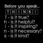 THINK Before you Speak (2-Day Challenge)