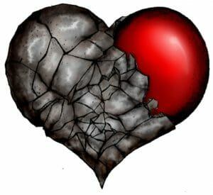The only thing strong enough to soften a hard heart is the blood of Jesus.